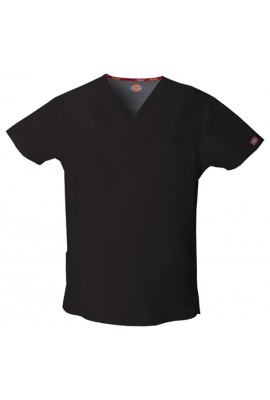 Halat medical V-Neck in Black
