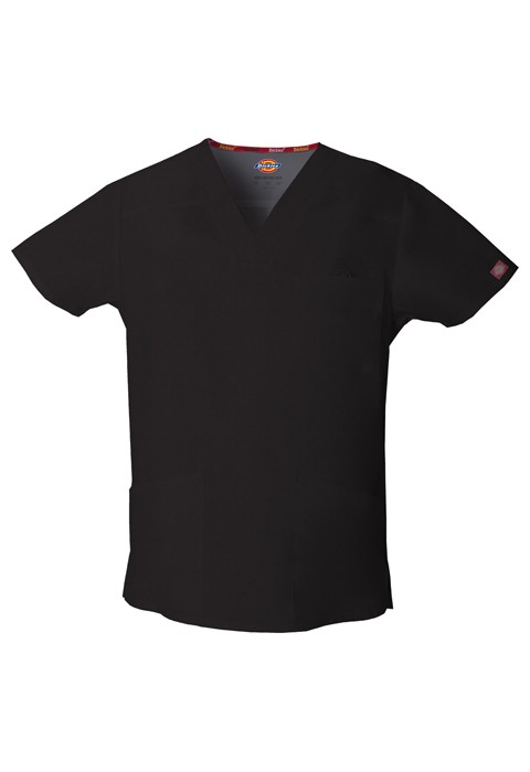 Halat medical V-Neck in Black
