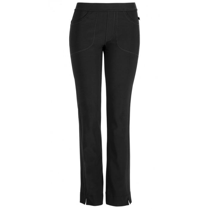 Pantaloni antimicrobieni cu talie joasa slim Black