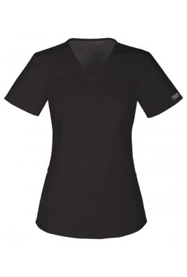 Halat medical V-Neck slim Black