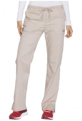 Pantaloni medicali cu talie medie drepti Khaki