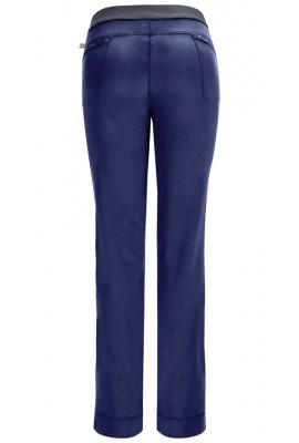 Pantaloni antimicrobieni cu talie joasa slim Navy