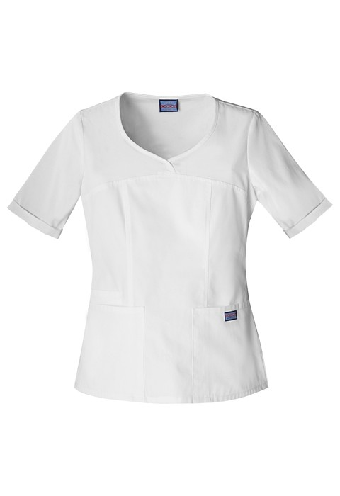 Halat Medical Novelty Neck Top White