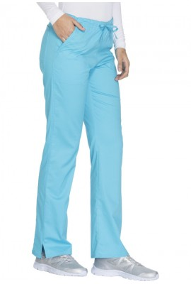 Pantaloni medicali cu talie medie drepti Turquoise