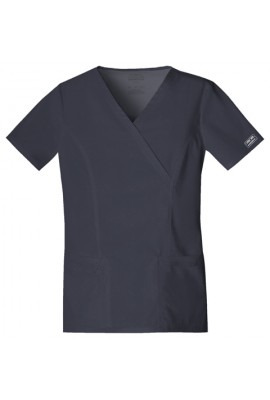 Halat medical Mock Wrap Pewter
