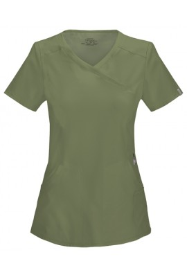 Halat medical antimicrobian Mock Wrap in Olive