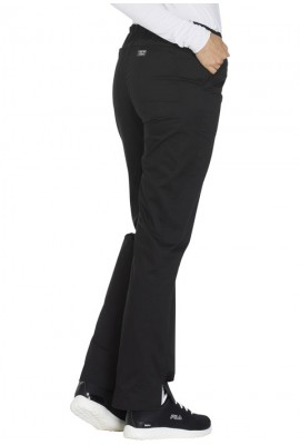 Pantaloni medicali cu talie medie drepti Black