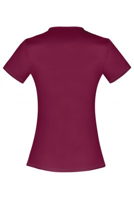 Halat medical V-Neck cambrat Wine
