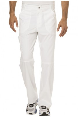 Pantaloni medicali barbatesti flexibili White