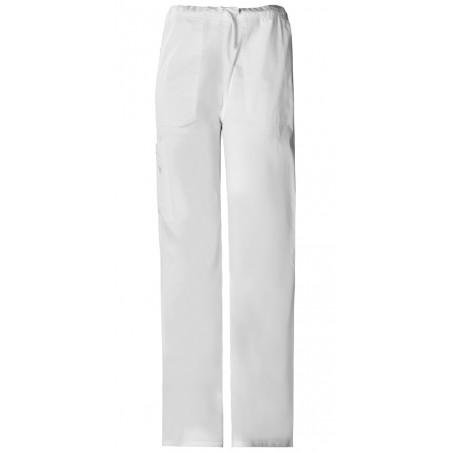 Pantaloni unisex drawstring White