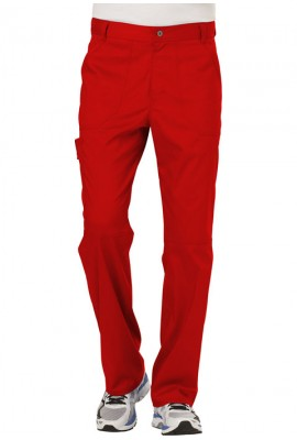 Pantaloni medicali barbatesti flexibili Red