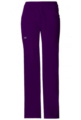 Pantaloni cu talie joasa drawstring in Eggplant