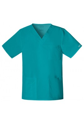 Halat unisex V-Neck Teal Blue