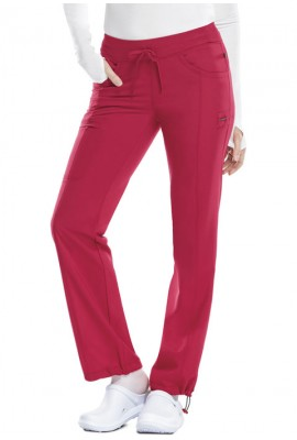 Pantaloni antimicrobieni cu talie joasa slim Red