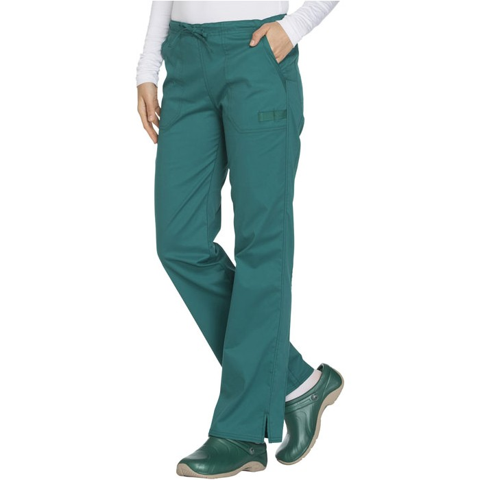 Pantaloni medicali cu talie medie drepti Hunter Green