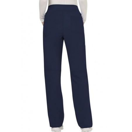 Pantaloni medicali drepti, cu talie medie Navy
