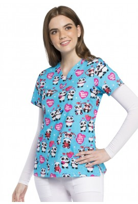 Halat medical V-Neck in Panda Lovin'