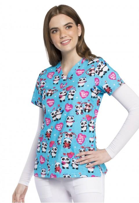Halat medical V-Neck in Panda Lovin'