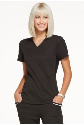 Halat medical ELLE Simply Polished V-Neck in Black