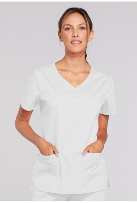 Halat medical V-Neck Core strech alb