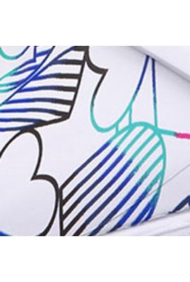 Saboti medicali ZONE in Stripes in Heart, Aqua,White
