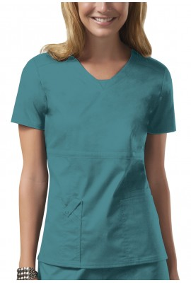 Halat medical V-Neck Core Strech in Teal Blue