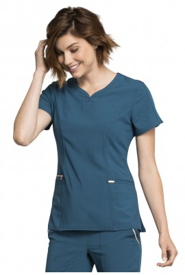 Halat medical Statement Ribbed in Caribbean Blue