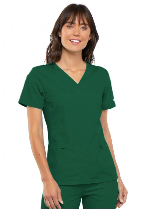 Halat medical cu laterale flexible Hunter Green