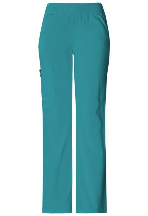 Pantaloni Dama Cargo Pocket in Teal Blue