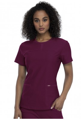 Halat Medical Round Neck Wine