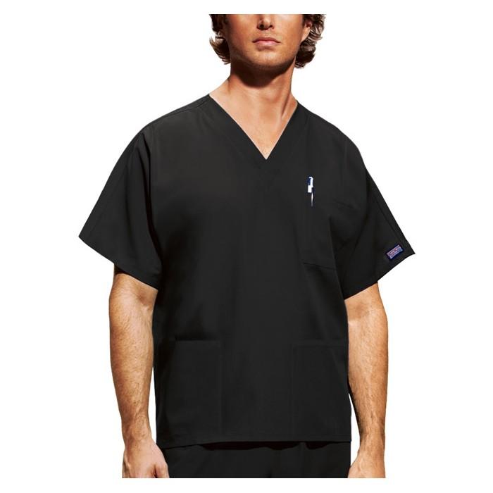 Halat medical unisex V-Neck in Black