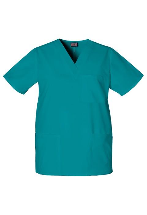Halat medical unisex V-Neck in Teal Blue