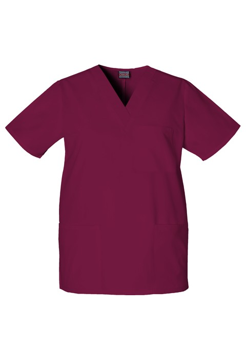 Halat medical unisex V-Neck in Wine