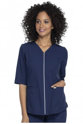 Halat Medical Elle Zip Up Navy