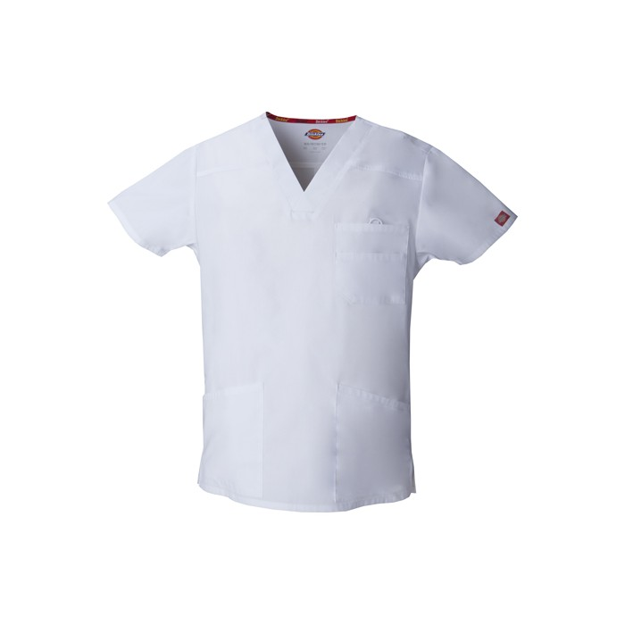 Halat medical V-Neck in White
