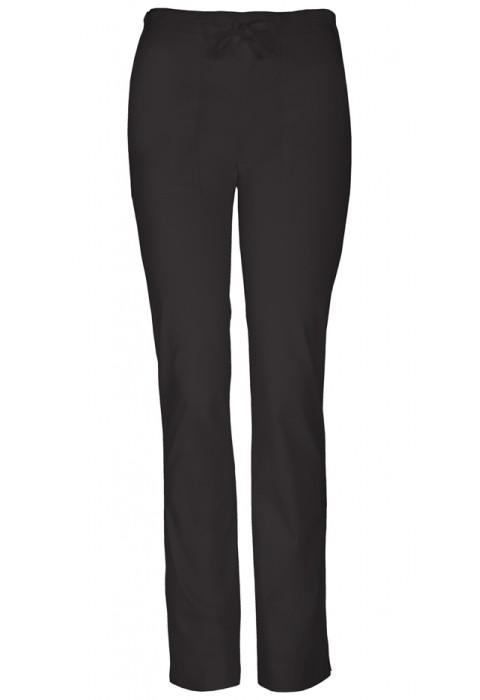 Pantaloni medicali slim cu talie medie Black