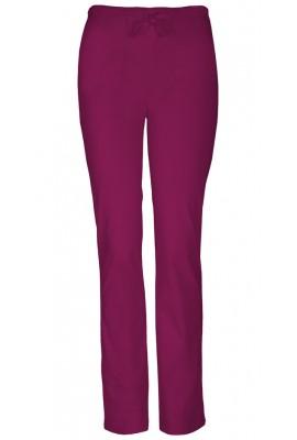 Pantaloni medicali slim cu talie medie WINE