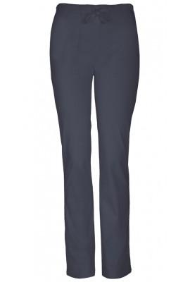 Pantaloni medicali slim cu talie medie Pewter