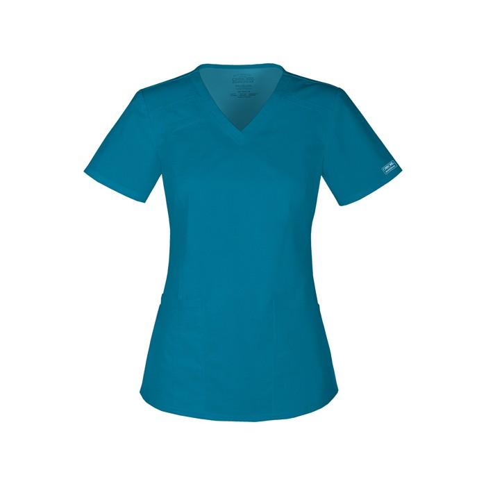 Halat medical V-Neck in Caribbean Blue