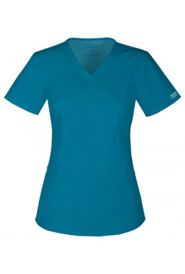 Halat medical V-Neck in Caribbean Blue