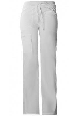 Pantaloni cu talie joasa Drawstring White
